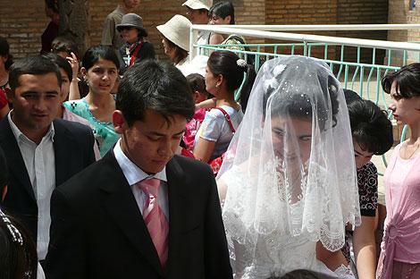 ウズベキスタンの伝統的な結婚式