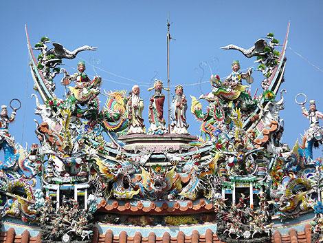 元帝廟の屋根飾り