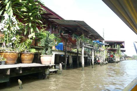 水上生活者の家々