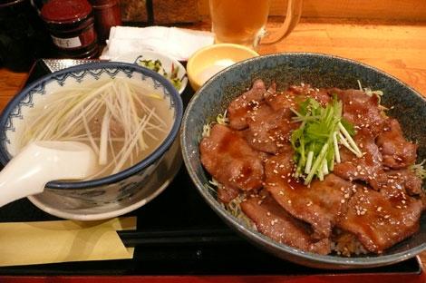 利久の牛タン丼定食