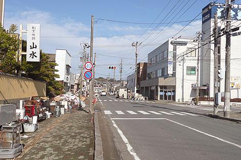 福島県いわき市小名浜の町の様子