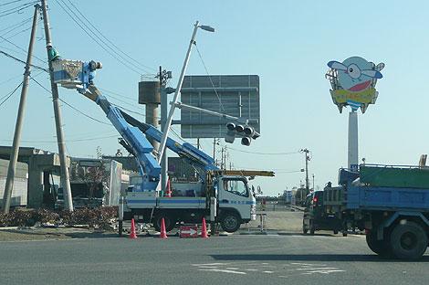 小名浜の復旧作業