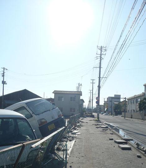 2011年4月25日の小名浜の町