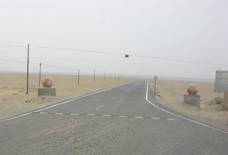 タクラマカン砂漠の入口