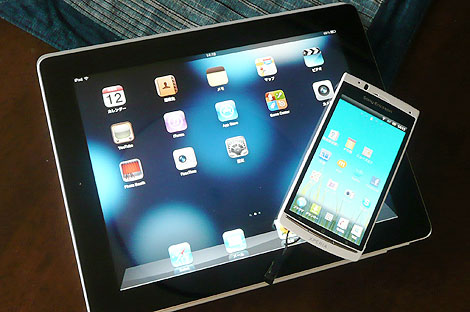 iPad2とXperia acro