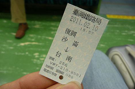 沙崙線の切符