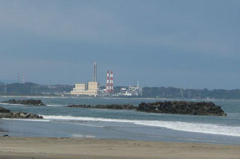 勿来の火力発電所