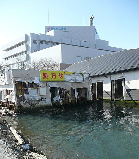震災から10カ月後の石巻市立病院