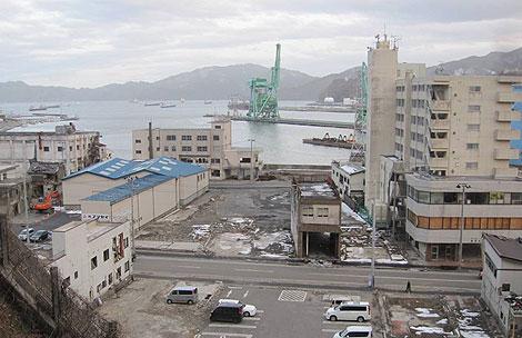 震災から1年後の釜石