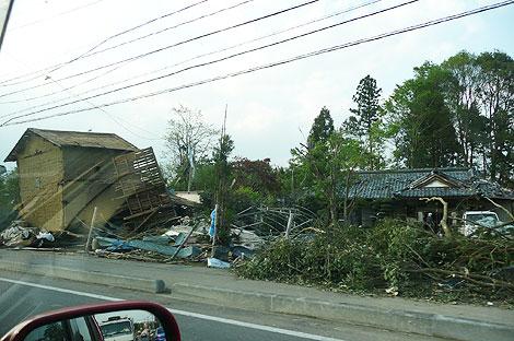 真岡市の竜巻被害