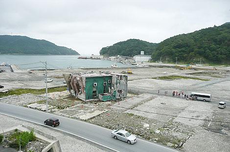女川町の「震災遺構」候補のビル