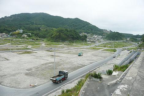 2012年7月の女川町の様子