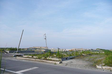 震災から1年半後の福島県新地町