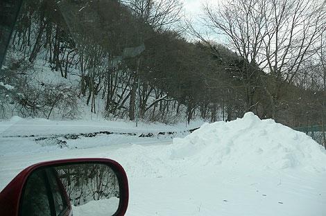 栃木県の雪道