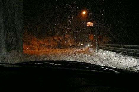 栃木の雪道