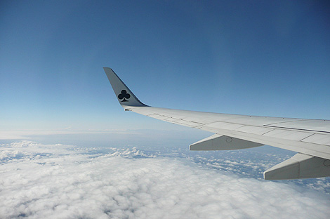 茨城空港発の飛行機の窓から