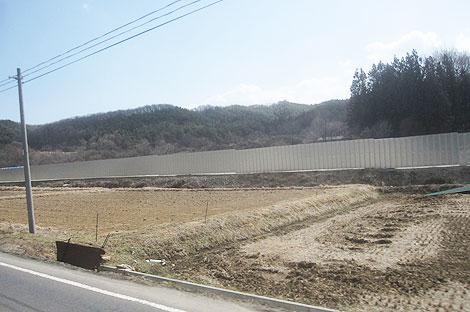 仮置き場の塀