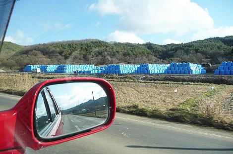 塀ができる前の仮置き場