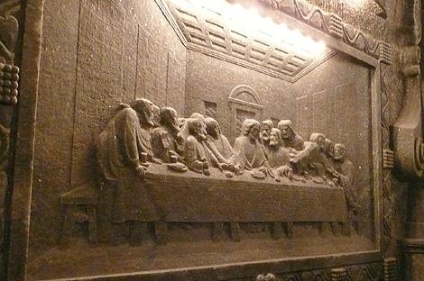 聖キンガ礼拝堂の「最後の晩餐」