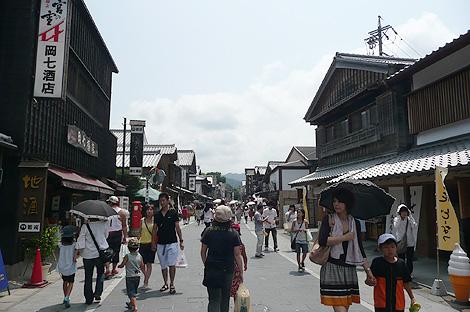 伊勢神宮(内宮)参道沿いのおはらい町