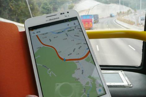 Googleマップ+GPSで使用