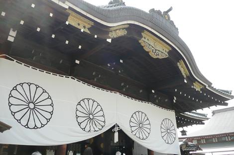 靖国神社の拝殿