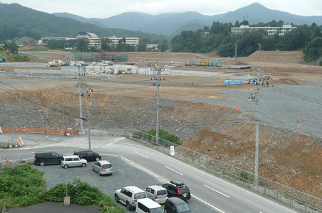 2014年8月の女川(JR女川駅側)