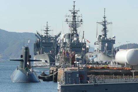 潜水艦と補給艦、練習艦など