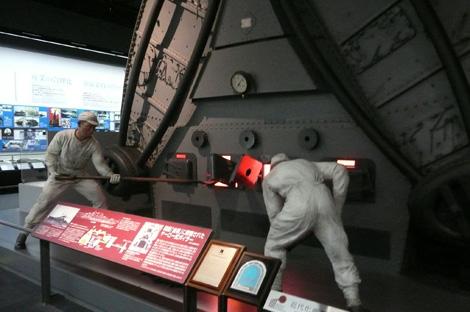 戦艦「金剛」のボイラー(焚き口)