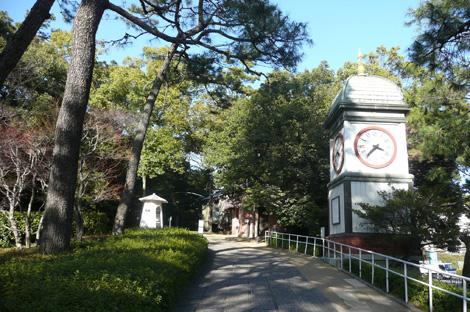 入船山記念館の時計塔