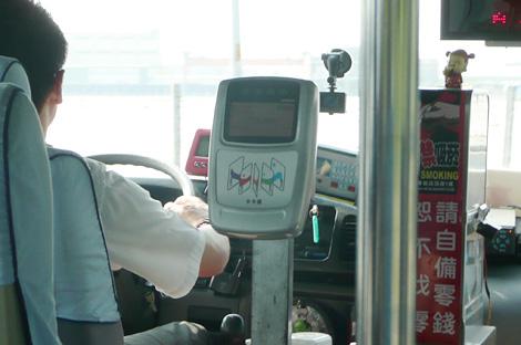 台湾各社バスのカードリーダー
