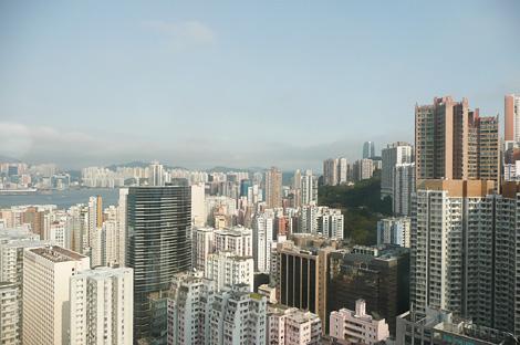 香港の高層マンション群
