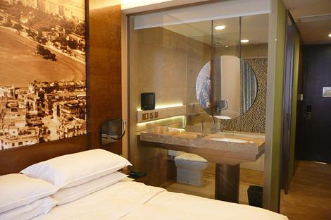 洗面所&浴室が透明ガラス