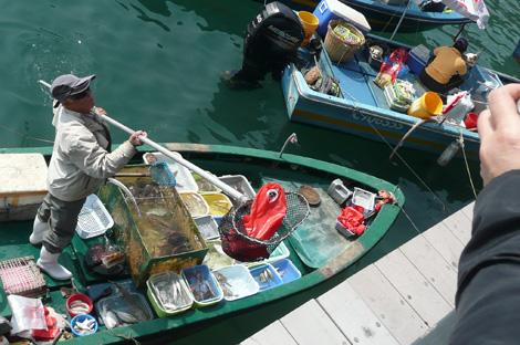 西貢の水上マーケット